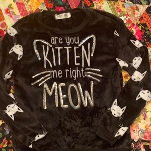 Cat pajama top/sweatshirt